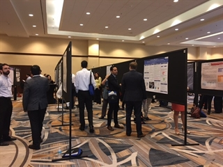 Delegates view posters at the 1st PAS Congress held in Miami, FL, USA.